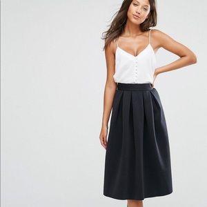 ASOS black bonded midi skirt NWT 2 4 6 $129